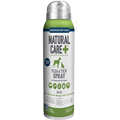 Natural Care Flea and Tick Spray for Dogs and Cats | Flea Treatment for Dogs and Cats | Flea...