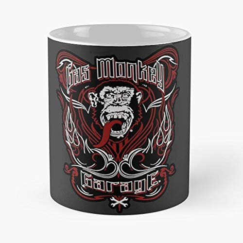 Mechanic Garage Gas Monkey Shop Blood Beer Car La Mejor Taza de café de cerámica de mármol Blanco de 11 oz