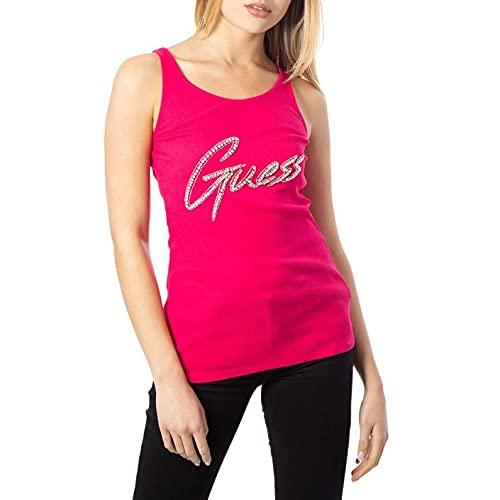 Guess Babe Tank Top Camiseta, Rosa, L para Mujer