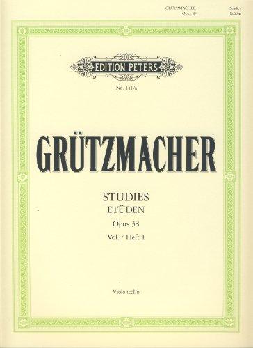 EDITION PETERS GRUTZMACHER - 24 STUDIES OP.38 VOL.1 - CELLO