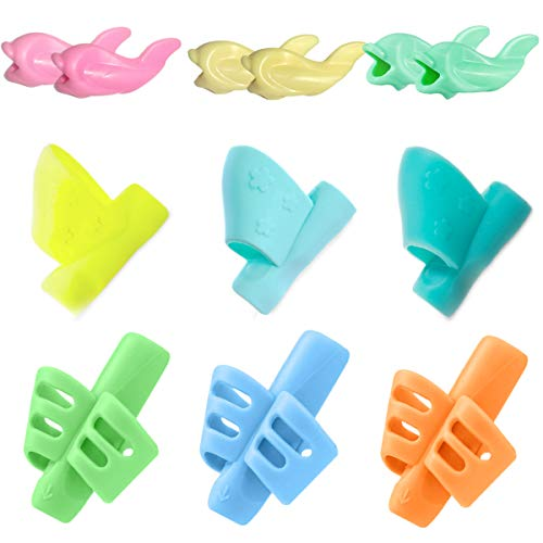 Pencil Grips - JuneLsy Pencil Grips for Kids Handwriting Pencil Grip Posture Correction Training...