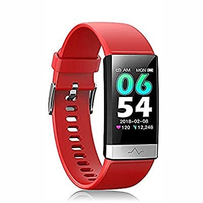 Fitness Tracker, Activity Tracker Watch with Heart Rate MonitorSleep Monitor Blood PressureCall Reminder,IP68 Waterproof Smart Band with Calorie Counter?Pedometer for Kids Men Women and Gift ?Red?