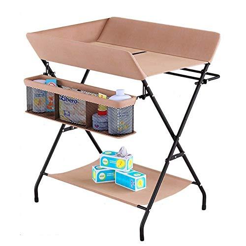 Klaptafel tuintafel eettafel klaptafel baby met grote opbergruimte, luierstation kleuterschool organizer (kleur: zwart) kaki