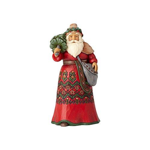 Enesco Jim Shore Heartwood Creek Santa's Around The World Sweden Stone Resin, 7' Figurine
