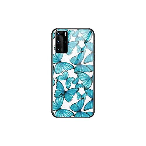 Linda mariposa teléfono caso para Huawei P 40 30 20 10 9 8 Lite E Pro Plus negro Etui Coque pintura hoesjes comic fas-2-Huawei P40 lite