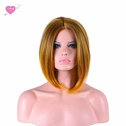 Longlove Bobo Cheveux femelle personnage de dessin animé Halloween Masquerade jouer Jeu Big Wave Perruque