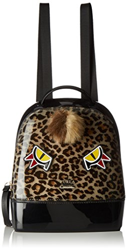 Furla Damen Candy Jungle Small Back Pack Rucksack Schwarz (TONI ONYX)