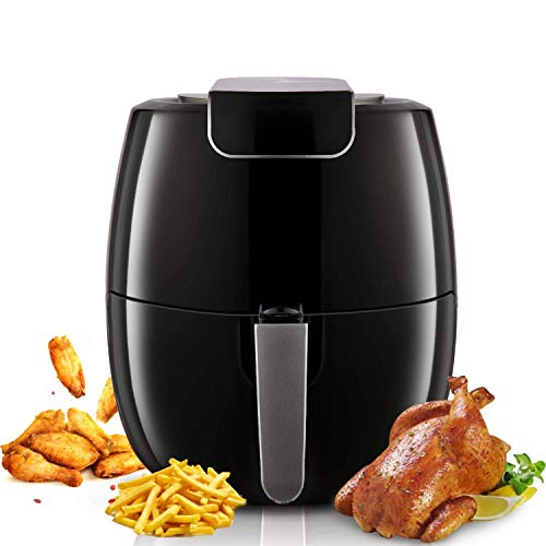 Air Fryer,6.8 Quart Power Max XL Air Fryer Oven Cooker with Touchscreen,Non-Stick Detachable Pan,Adjustable Temperature(up to 392℉) and 30 Minutes Timer for Healthy Oil and Low Fat Cooking,1800W