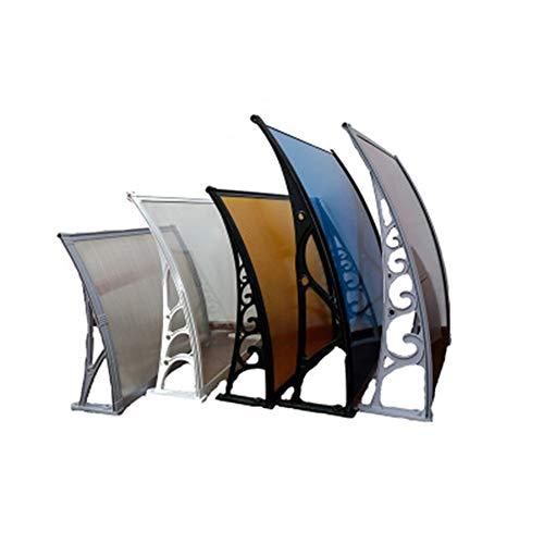 ZEMIN Door Canopy Awning Silent Endurance Board, Sun Shade, Outdoor Window, Awning, Balcony, Air Conditioner, Outdoor Unit, Sun Shade, Canopy (Color : Brown+White, Size : 60cmx60cm)