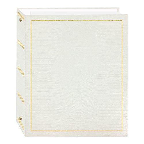 Álbum de fotos com 3 anéis autocolantes magnéticos, 100 páginas (50 folhas), branco