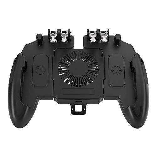 Universal Mobile Game Joystick Game Handle Controlador de Juegos portátil portátil Seis Dedos Gamepad con Ventilador de enfriamiento de disipación de Calor para teléfonos celulares 4.6-6.5 Pulgadas