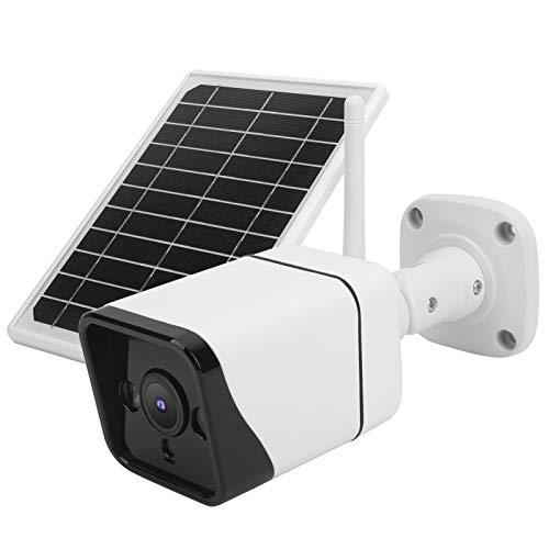 DAUERHAFT Detección de Movimiento del Monitor de visión Nocturna con cámara WiFi de Panel Solar, para Hotel, para el Centro Comercial(4G-APN Version)