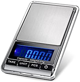 TBBSC Jewelry Scale,High Precision Digital Pocket Scale Gram 300g/0.01g Reloading