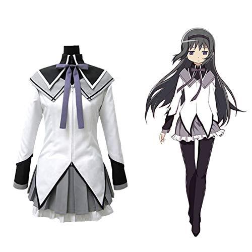 Teakpeak Cosplay Uniform Anime, Cosplay Schuluniform Puella Magi Madoka Magica Cosplay Akemi Homura Cosplay Anime Kostüm Mädchen- XXL