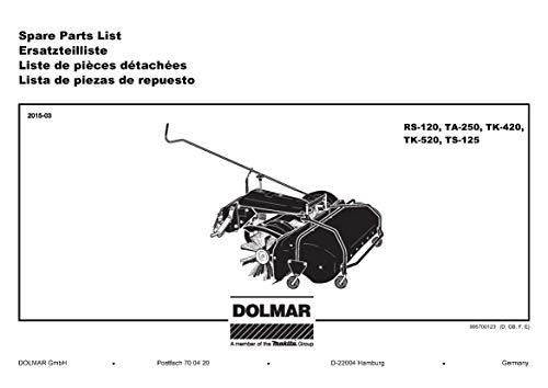 Dolmar 663111514-2515 Rohrklappsplint 6, Original Ersatzteil RS-120