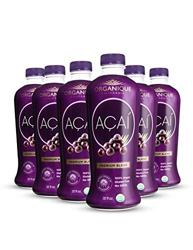ORGANÍQUE Açaí Premium Blend 32 oz (Pack of 6)