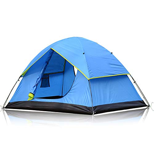 Camping Tent Backpacking Tent Double-Decker Double-Door Professional Outdoor Camping Waterproof & Windproof Lightweight Tent For Outdoor Camping Backpacking Travel Uv Protection
