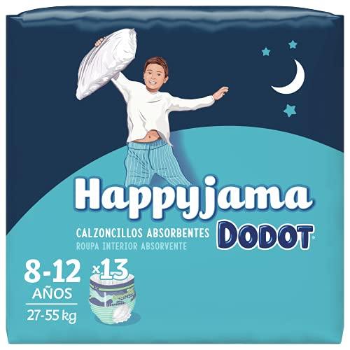 Dodot HappyJama - Pañales Niño 8-12 Años, 13 Unidades, 27-55 kg, Protección anti-fugas Durante La Noche