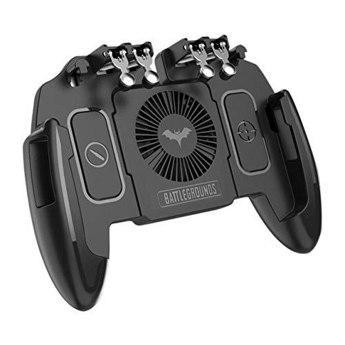 MeterMall Nieuwe M10 Zes Vinger Mobiele Gamepad Game Controller voor MEMO Mobiele Telefoon Spel Joystick met Warmte Dissipatie Functie, Met ventilatorversie
