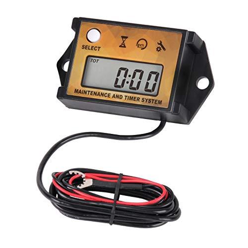 Jayron Recordatorio de Mantenimiento Digital Tacómetro Contador de Horas Temporizador Parcial Reiniciable Lmpermeable para motor de Gasolina Pequeño Generador Cortacésped Cortadora de Nieve