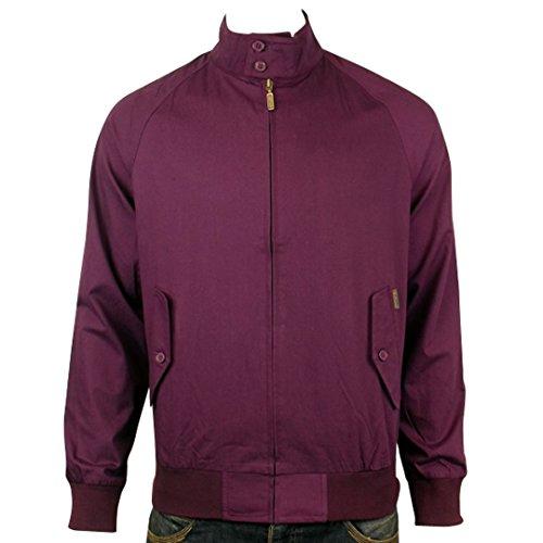 Ben Sherman Herren Classic Mod Harrington Jacke Retro Mantel MF00234, Violett, Größe S