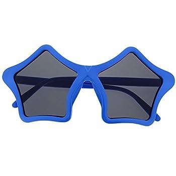grinderPUNCH Star Shaped Sunglasses Shades Super Sunnies Novelty Blue