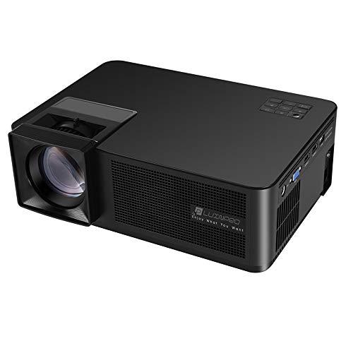 Proyectores CM2 Pantalla TFT LCD de 5.8 pulgadas 280 lúmenes 1280 * 768P Proyector inteligente, Lunix OS, soporte WiFi, Ethenet, HDMI * 2, USB * 2, SD, VGA, AV, salida de audio ( Color : Black )