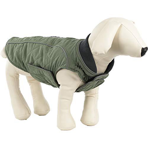ubest Hundemantel wasserdichte Winterjacke, Warm Weste Reflektierende Hundejacke für Winter und kaltes Wetter, Grün, S