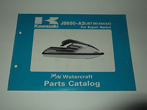 Partes catalog Kawasaki Jet Ski Watercraft JS 650-A3 1989