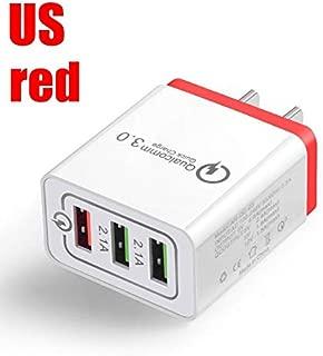 RONSHIN powersupplies 30W QC 3.0 Fast Quick Charger 3 Port USB Hub Wall Charger Adapter Orange U.S. regulations