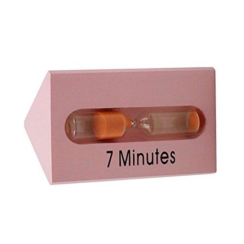 MagiDeal 3+5+7 Minutes Sabliers Triangle Minuterie Horloge de Sable Hourglass en Bois Verre Sable Désigné Pour Jeux Cuisine Exercice-10 x 6 x 6cm