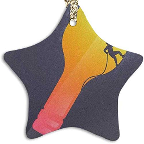 128 buyloii Creative Rock Climbing Art Painting Ornament (Star) Personalized Ceramic Holiday Christmas Ornament Ideas 2019