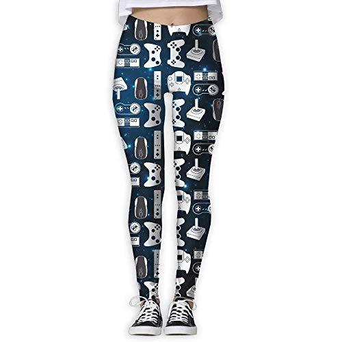 Pantalones De Yoga, Polainas De Entrenamiento,Video Game Weapon Funny Gamer Women's Slim Workout Full Length Yoga Pant Skinny Leggings Pants