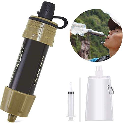 Lixada Filtro de Agua Portátil Sistema de Filtración de Agua Mini para Emergencia Supervivencia Acampada Viaje Mochilero