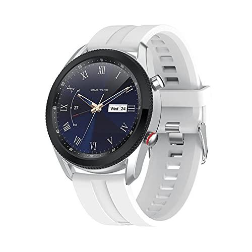 Smart Watch, L61, Moda Business Casual, Reloj para Hombres, Dial Se Puede Girar para Interrumpir La Interfaz De Función Reloj Ronda Hombre para Android iOS,B