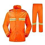 Regenmantel Set Verregnete Outdoor-Arbeitskleidung Reflektierender Streifen Regenmantel und...