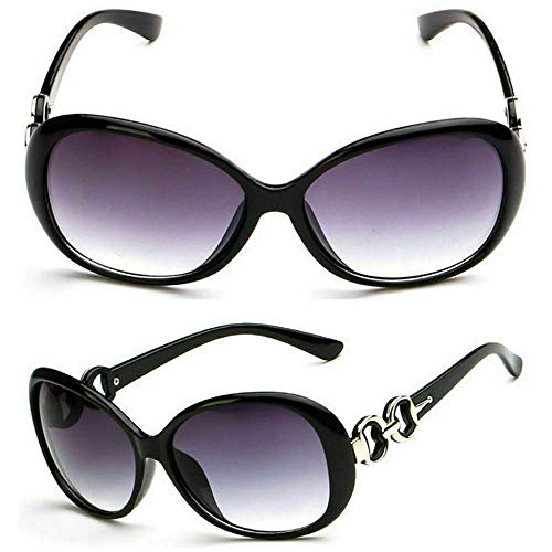 Gafas de sol Paris Hilton Negro Brillante Cadena Enmarcada Jackie Kennedy Jacky O Onasis Gafas UV Fancy Dress Fashion