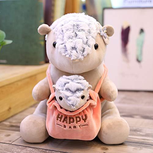 25cm Serie Madre-Hijo Canguro Panda Oso Polar Erizo pangolín Juguetes de Peluche Lindo Animal de Peluche muñeca para niños Regalos Pangolín