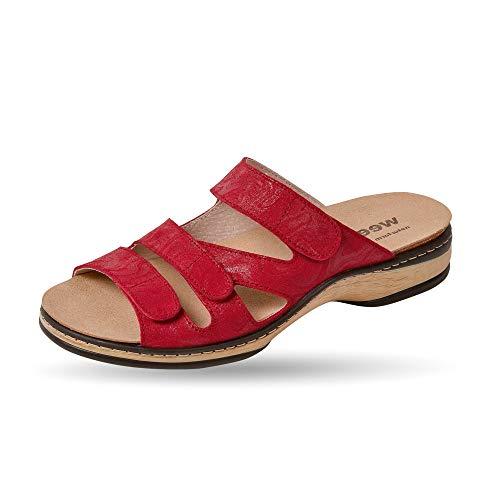 Weeger-Orthopädische-Pantolette mit auswechselbarem Fußbett rot Gr. 37