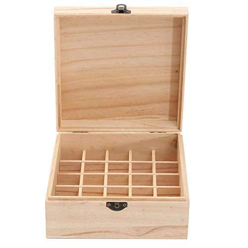 PETZMALL 25 grillas Caja de Madera, Botellas de joyería de Aceite Esencial Almacenamiento de contenedores para joyería de Aceite Esencial