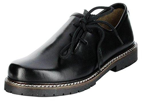 Bergheimer Trachtenschuhe Haferlschuhe schwarz Herren Halb-Schuhe Bergheim, Größe:43, Farbe:schwarz