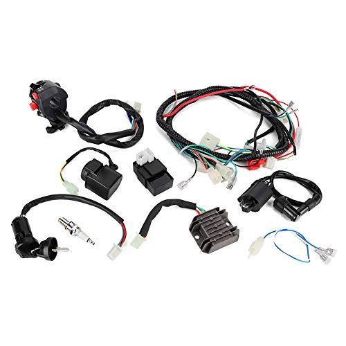 KIMISS ATV Arnés de cableado, cableado eléctrico Cableado CDI Conjunto de accesorios para ATV QUAD Bike 200-300cc