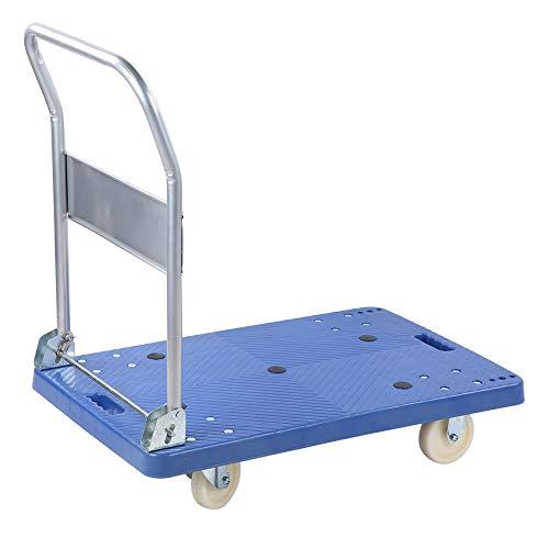 Dioche Platform Trolley Trolley with Folding Platform Capacity 360 kg, Transport Trolley Sliding Trolley for Warehouse Transport 90 x 86 x 55 cm