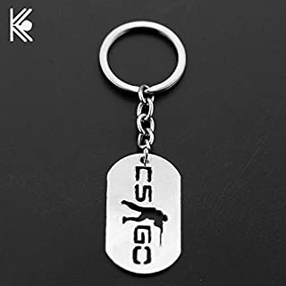 Key Chains - Game CSGO Metal Keychain Counter Strike CS GO Alloy Key Chains for Men Male Keying Porte Clef Chaveiro Backpack Accessories - by YPT - 1 PCs