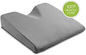ComfySure Car Seat Wedge Pillow - Memory Foam Firm Cushion - Orthopedic Support and Pain Relief for Lower Back, Tailbone, Coccyx and Hips for Driving, Office Chairs and More