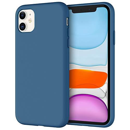 JETech Funda de Silicona Compatible iPhone 11 (2019) 6,1', Sedoso-Tacto Suave, Cubierta a Prueba de Golpes con Forro de Microfibra (Azul Cobalto)