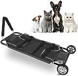 Camilla veterinaria para transporte de mascotas, camilla de transporte de animales, camilla para perros y mascotas, con ruedas