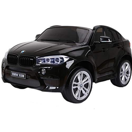 Coche eléctrico para niños BMW X6 12 V negro 2 plazas asientos...