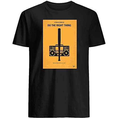 #Do The Movie #Right Thing Minimal Film Poster Cassette Radio Funny Meme Costume Movie Drama Sitcom tv Show Comedy Action Gift Graphic Unisex T-Shirt (Black-4XL)