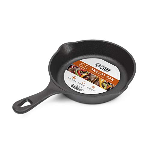 Commercial Chef CHFL650 6.5 Inch Skillet, Black